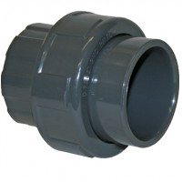 "1"" Grey PVC Socket Union"